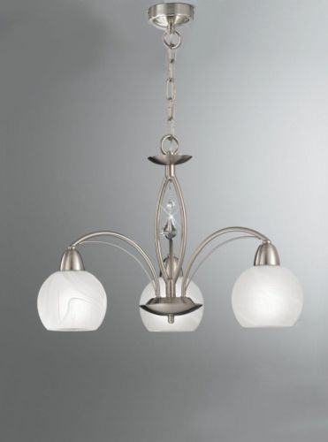 Franklite FL2277/3 Satin Nickel Pendant Light (Class 2 Double Insulated)